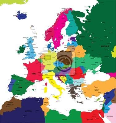 La carte politique de l'Europe