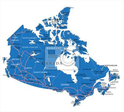 La carte politique du Canada