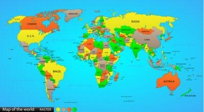 Sticker La carte politique du monde