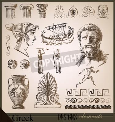 Sticker la collecte d'éléments de conception Rome antique