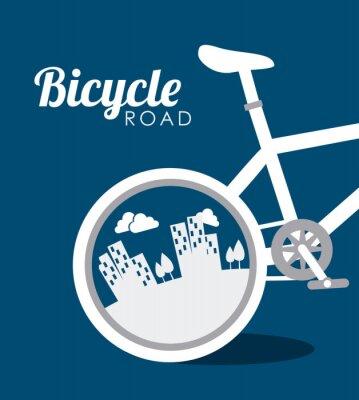 Sticker la conception de vélos, illustration vectorielle.