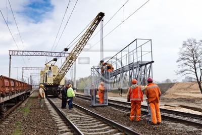 la construction de chemins de fer à Kiev, Ukraine