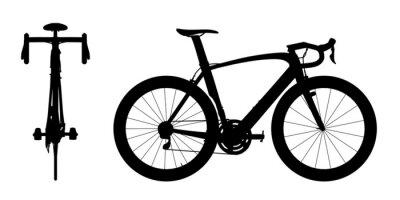 Sticker La course sur route à vélo silhouette 2en1 Une