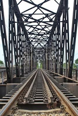 Sticker La longueur des rails à travers le fleuve