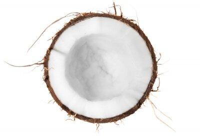 Sticker La moitié de la noix de coco vue de dessus