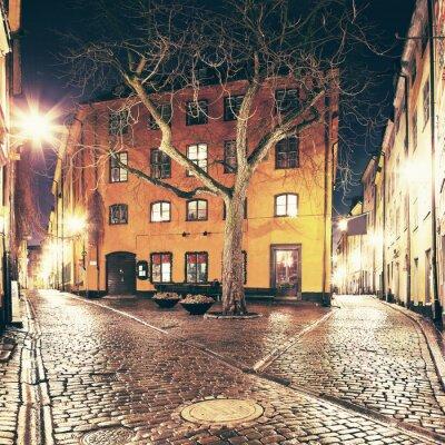 Sticker La petite place quelque part dans Gamla Stan, Stockholm.