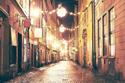 Sticker La rue de nuit à Gamla Stan, Stockholm.