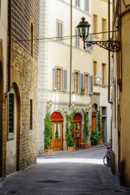 Sticker La rue Via Lambertesca au centre historique de Florence, Italie
