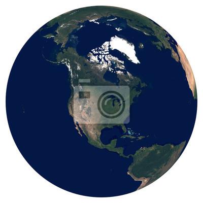 La Terre depuis l'espace. Image satellite de la planète Terre. Photo de globe. Carte physique isolée de l'Amérique du Nord (États-Unis, Mexique, Canada, Guatemala). Éléments de cette image fournis par