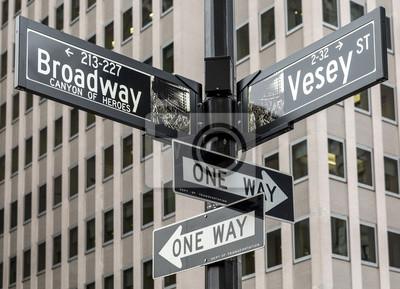 Sticker La ville de New York à Manhattan, Etats-Unis.