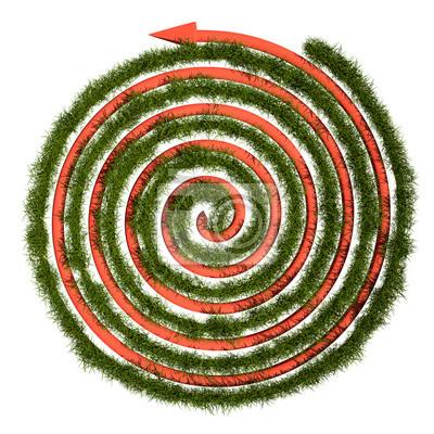 Labyrinthe d'herbe verte, 3D