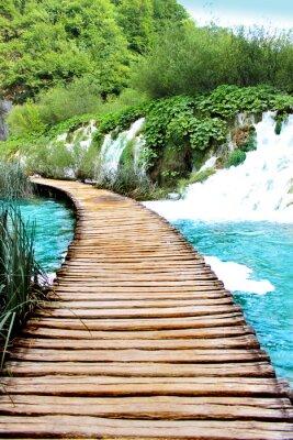 Sticker Lac de Plitvice de voyage magique, Croatie