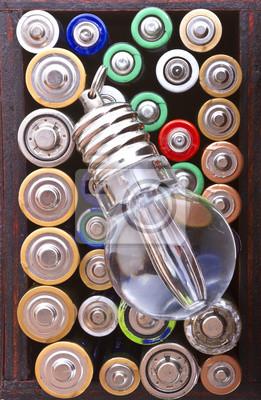 Lampe de débit et batteries fond