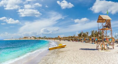Sticker Landscape with beach in Abu Dabbab, Marsa Alam, Egypt