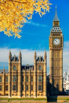 Sticker Le Big Ben et la Chambre du Parlement, Londres, Royaume-Uni.