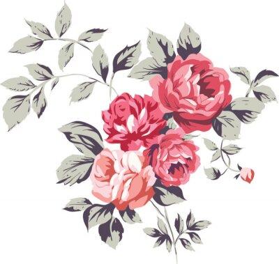 Sticker Le cru rose Roses
