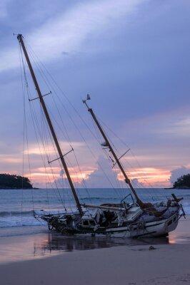 Le flanc du navire, Kata Beach, Phuket Thaïlande