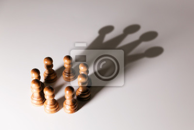 Sticker Le leadership d'affaires, le pouvoir d'équipe et le concept de confiance