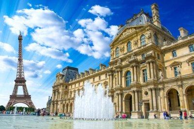 Sticker Le Louvre, Paris, France