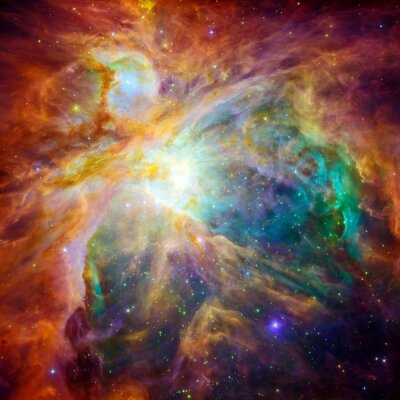 Sticker Le nuage cosmique appelé nébuleuse d'Orion