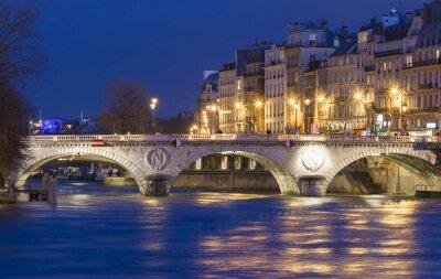 Sticker Le pont Saint Michel, Paris, France.