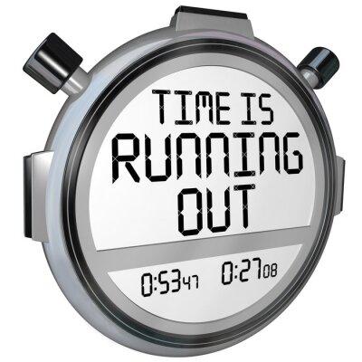 Sticker Le temps presse Chronomètre Timer Clock