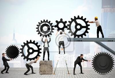 Sticker Le travail d'équipe des gens d'affaires
