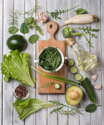 Sticker légumes verts