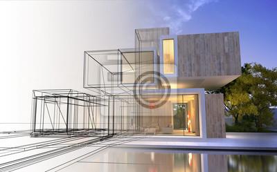 Sticker Les étapes du projet d'architecture