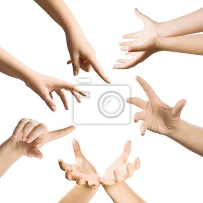 Les gestes des mains ensemble