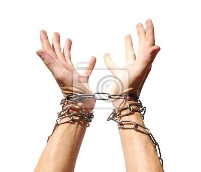 Les mains enchaînées