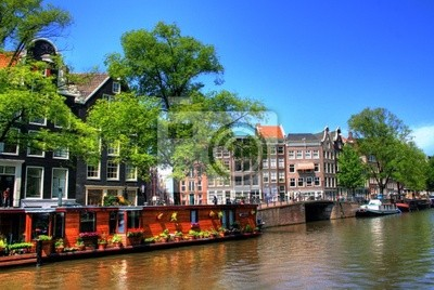 Les maisons flottantes à Amsterdam