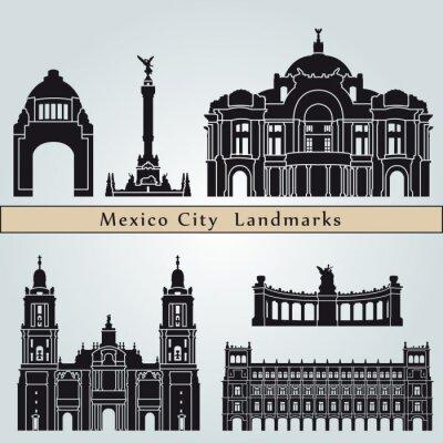 Sticker Les monuments de Mexico