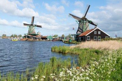 Sticker Les moulins de Zaanse en Hollande