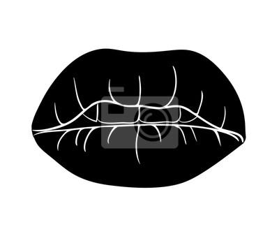 Lèvres Vecteur Des Dessin Animé Conception Icône Symbole Avec Dents 0NwOPk8Xn
