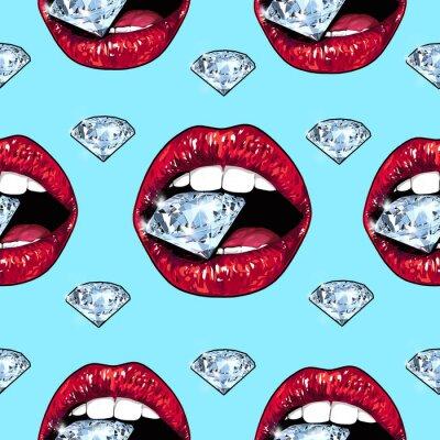 Lèvres brillants titulaires d'un brillant mousseux. Seamless