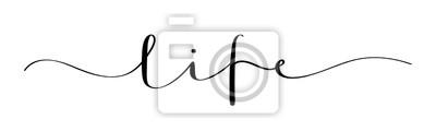 Sticker LIFE vector brush calligraphy banner