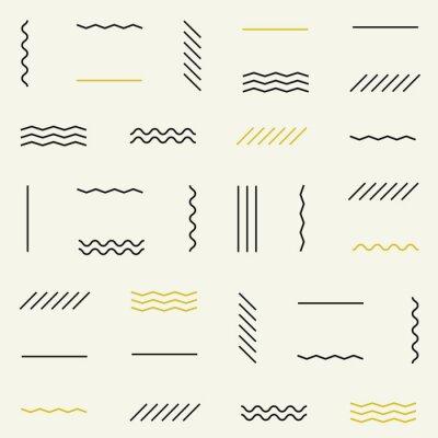 Sticker Lignes géométriques modèle sans soudure.