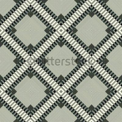 Sticker lignes sombres et polygones illustration de modèle sans soudure fond géométrique