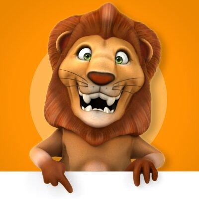 Sticker lion Fun