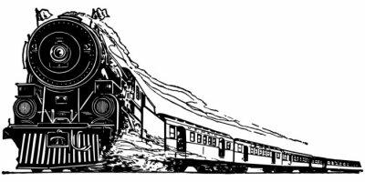 Sticker Locomotive à vapeur
