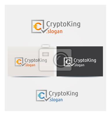 Sticker Logo Crypto Coin Argent Finance Icone Carte De Visite Et Charte Graphique Entreprise Plusieurs Couleurs