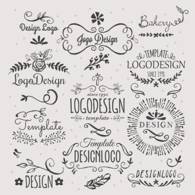 Sticker Logo design avec des éléments esquissés à la main