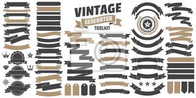 Sticker Logo Vintage Retro Vector pour bannière