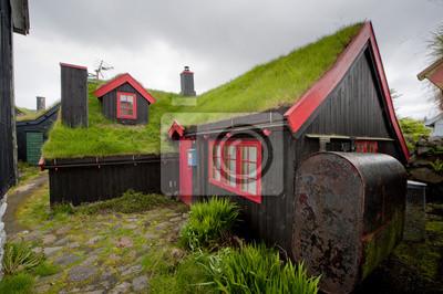 Loin du centre-ville Oer herbe toit maison en bois