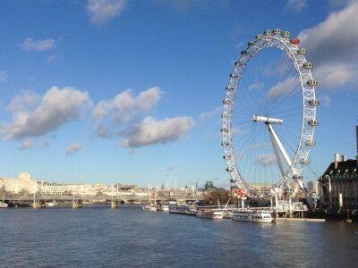 Sticker London eye en journée ensoleillée
