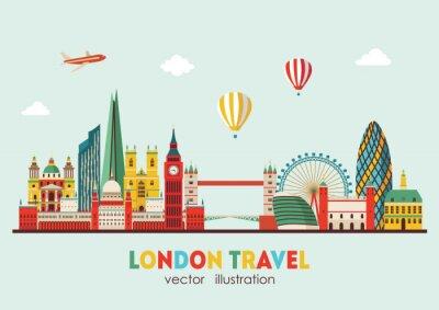 Sticker London Skyline abstract. Illustration vectorielle - vecteur stock