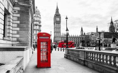 Sticker London Telephone Booth et Big Ben