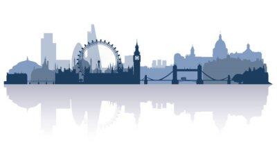 Sticker Londres en vecteur de stile plat