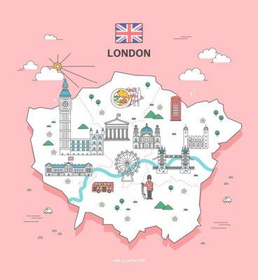Sticker Londres Travel Landmark Collection